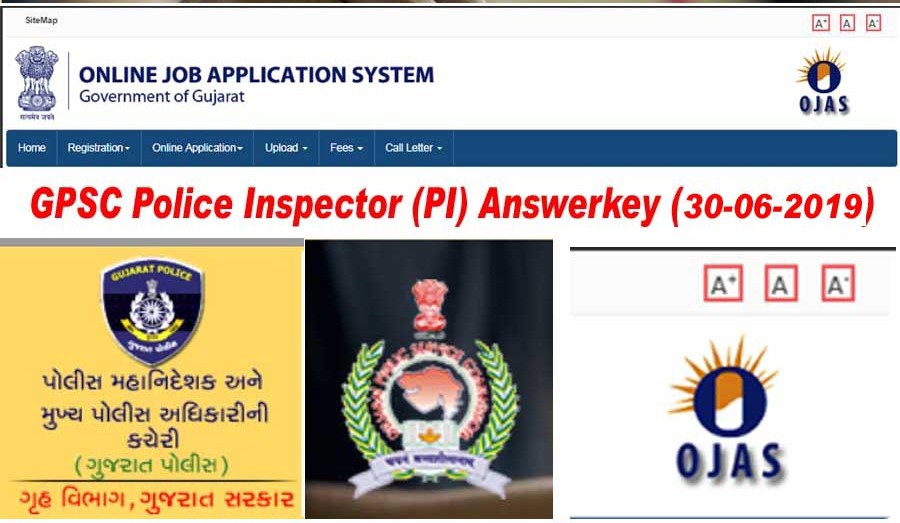 GPSC PI ANSWER KEY 2019 PDF DOWNLOAD - GPSC Police Inspector Answer Key 2019. Today at 30 june 2019 Gujarat public service commission takes examination of GPSC PI (Police Inspector).